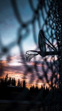 体育器材 篮球框 投篮 天空
