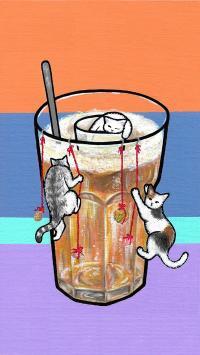 LEE TOLL 插画 猫咪 咖啡