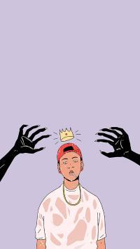 皇冠 插画 怪诞风格 手