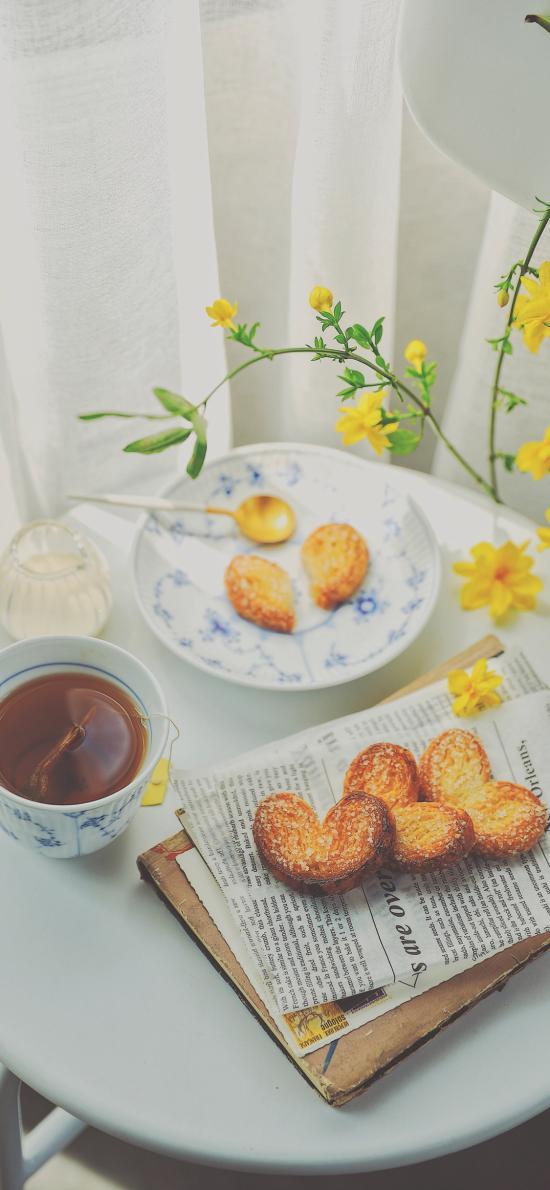 蝴蝶酥 下午茶 点心 饼干 桌面