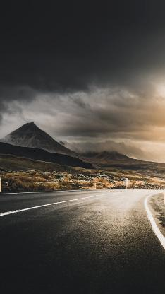 道路 山峰 天空 自然风景