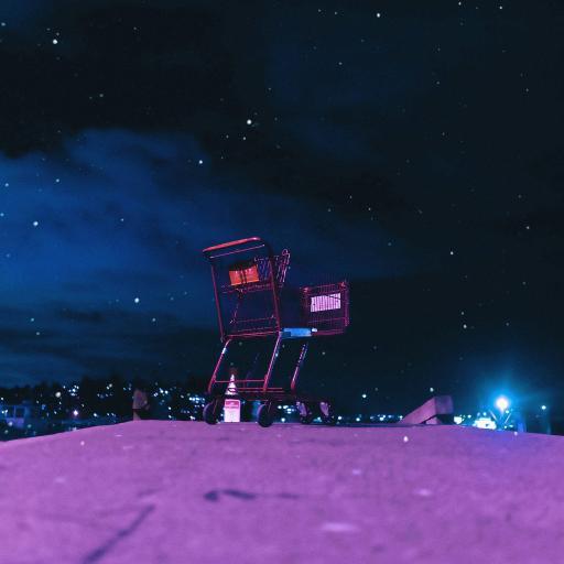 夜晚 星空 购物车