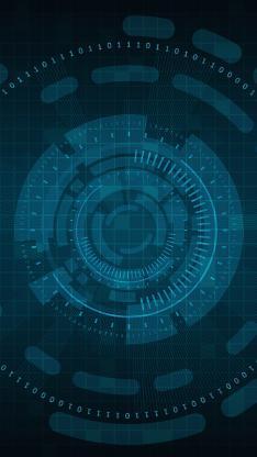 科技 蓝色 抽象 数字 圆