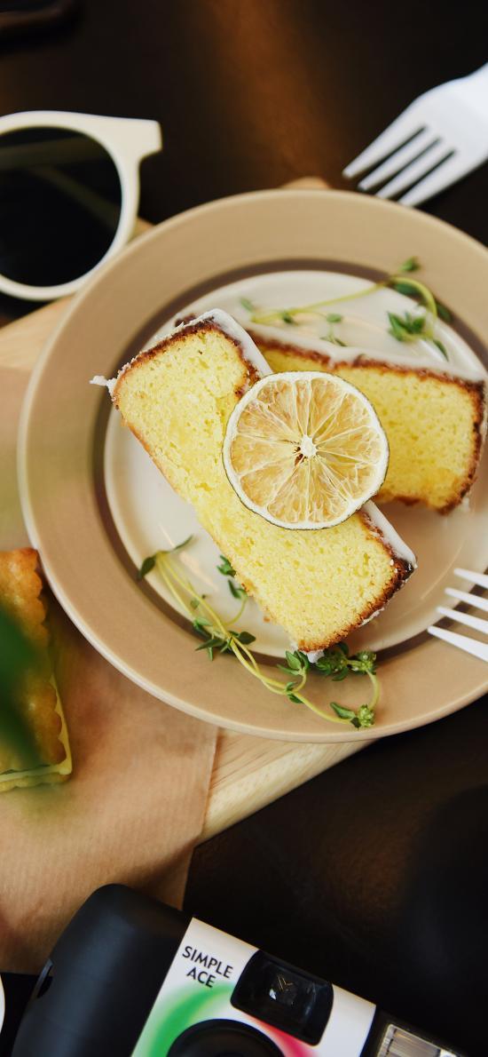 糕点 蛋糕 点心 甜品 柠檬 餐具