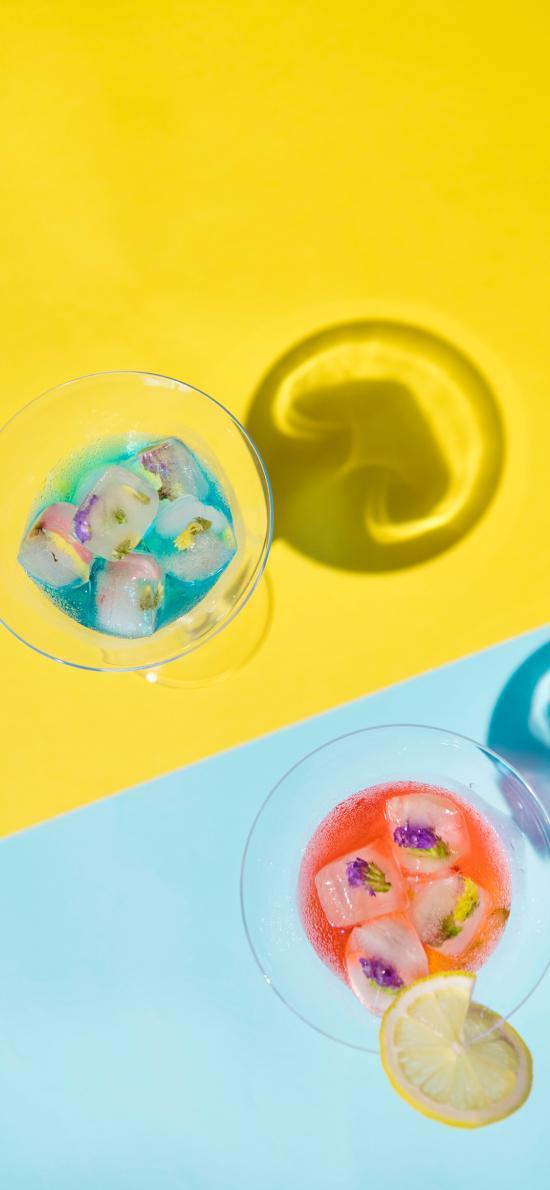 酒精 饮料 色彩 冰块 鸡尾酒 玻璃杯