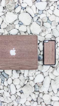 科技 电子产品 笔记本 手机 木纹