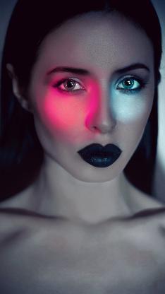 个性 灯光 妆容 大胆 创意 新颖