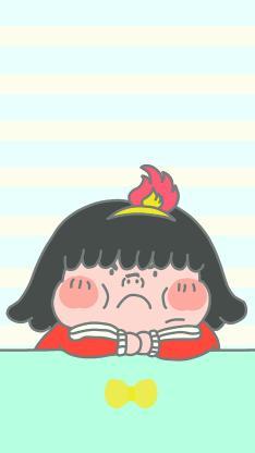 卡通 小女孩 小胖妞 生气