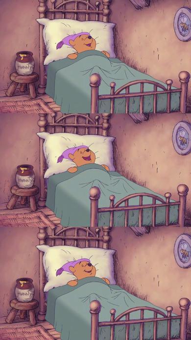 迪士尼 动画 小熊维尼 睡觉