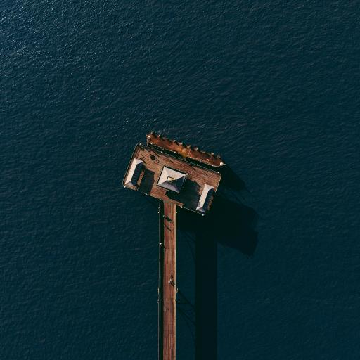 俯拍 大海 木桥 度假 休闲