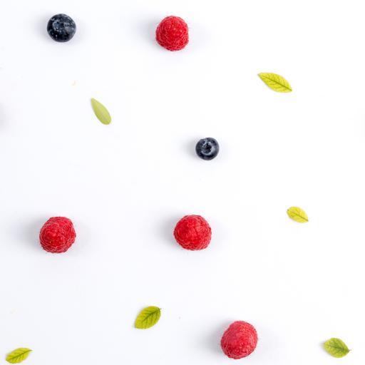 水果 树莓 蓝莓 平铺