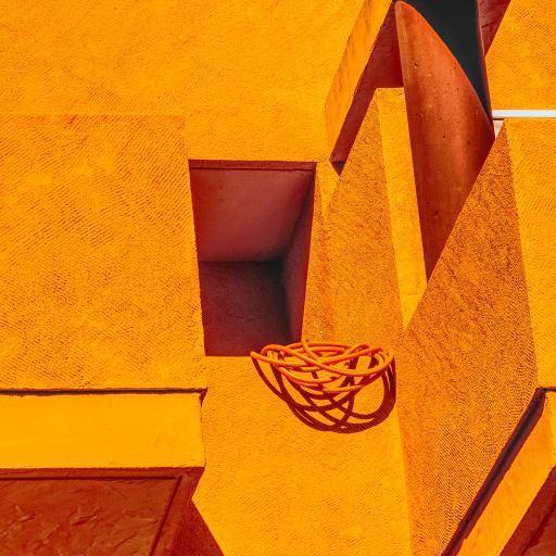 建筑 楼房 黄色 绳子
