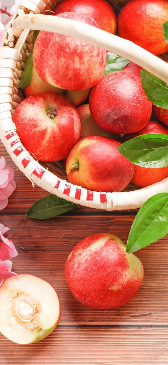 油桃 水果 新鲜 果篮 桃子