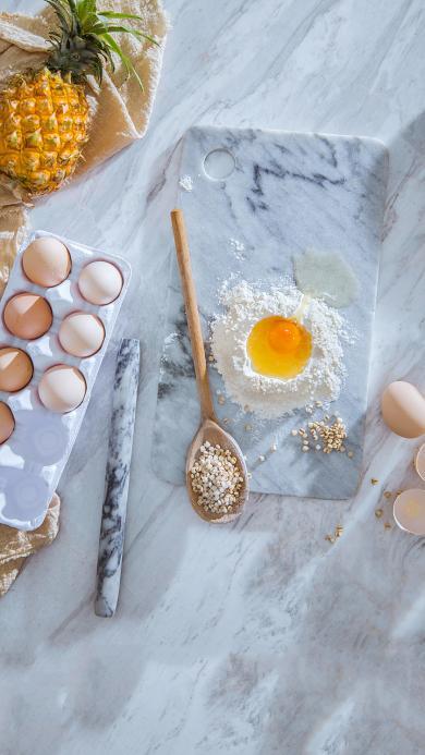 食材 鸡蛋 面粉 菠萝
