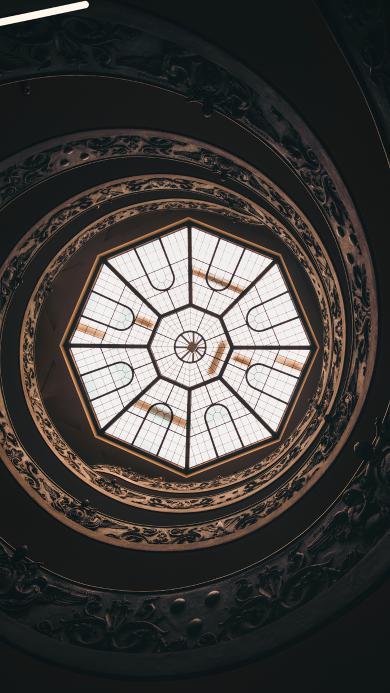 建筑 天窗 雕花 螺旋 工艺