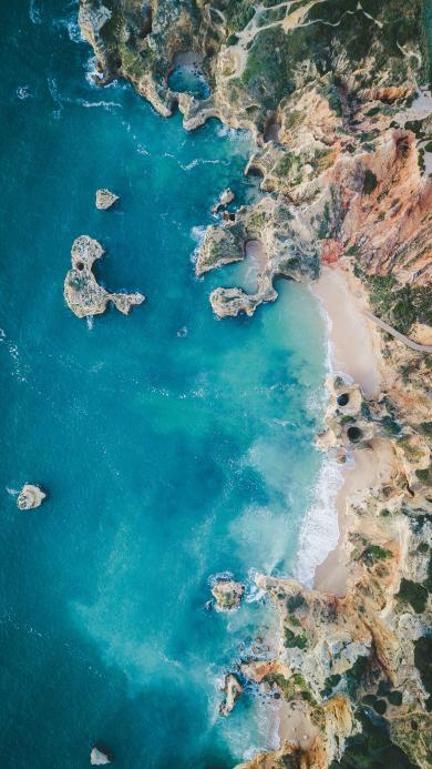大海 海峡 岩石 海水 美景