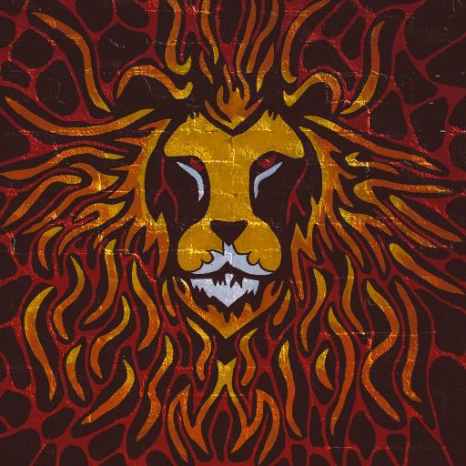 手绘 涂鸦 创意 色彩 狮子