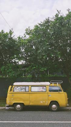 街道 车辆 黄色 汽车 停放
