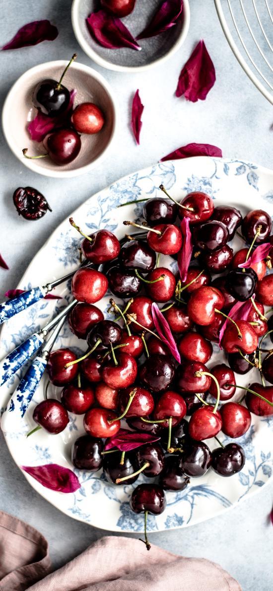 水果 樱桃 车厘子 鲜红