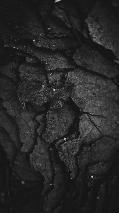 岩石 层层 断裂 漆黑