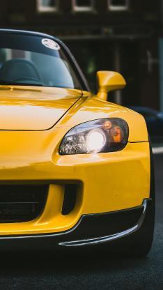 汽车 黄色 现代