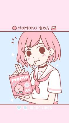 动漫 少女 粉色系 短发