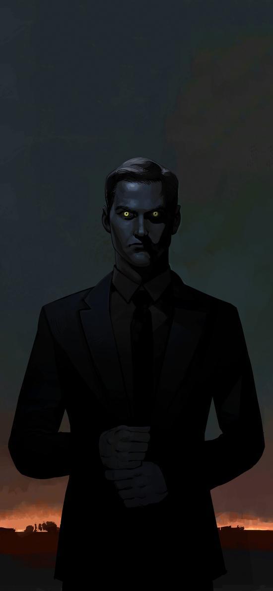 CG 插画 人物 黑暗