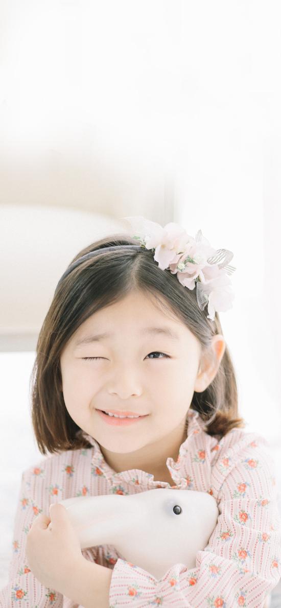 可爱 小女孩 卖萌 眨眼