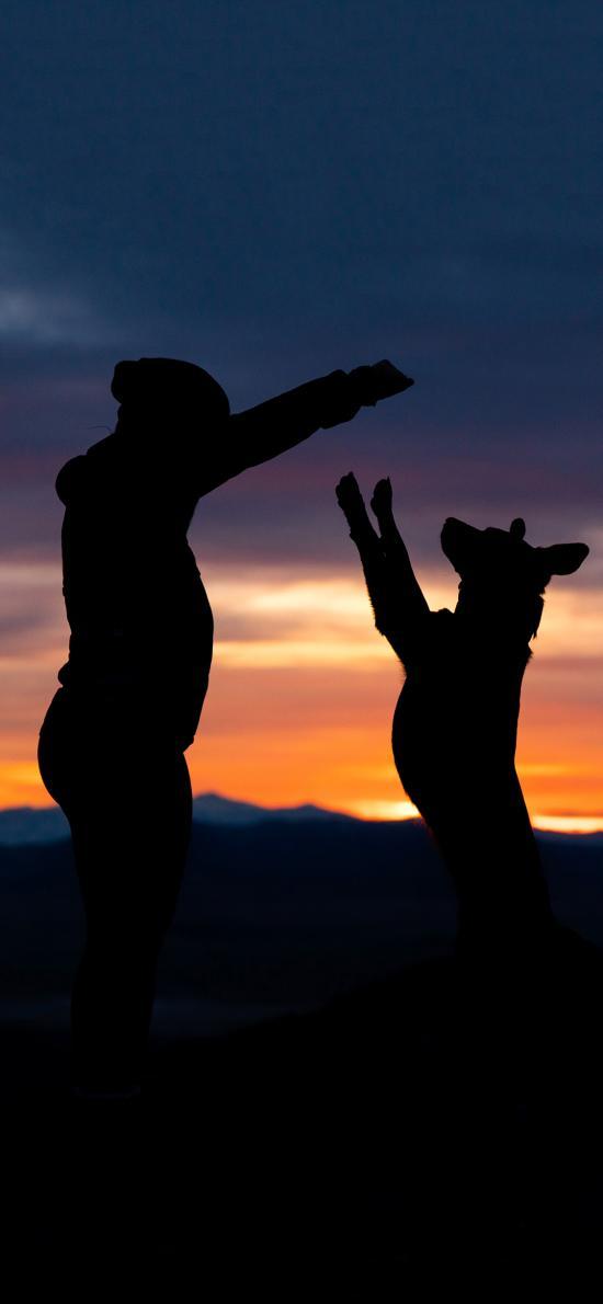 摄影 人物 狗 宠物 情感