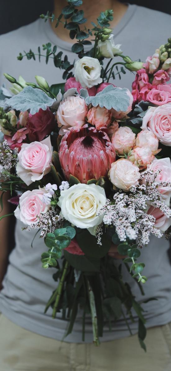 花束 鲜花 粉玫瑰 白玫瑰