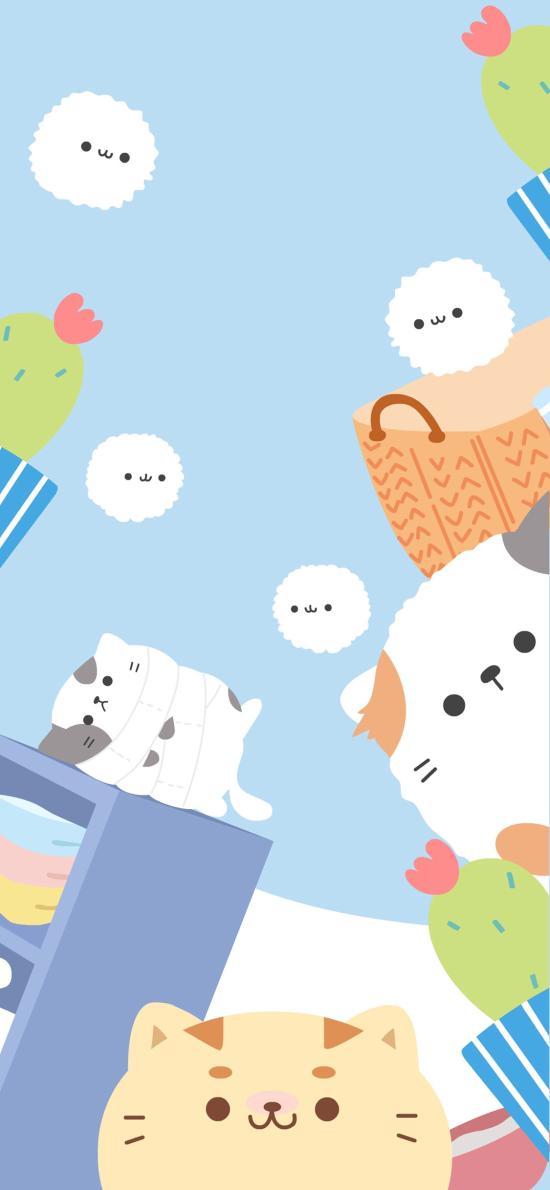卡通 猫咪 可爱