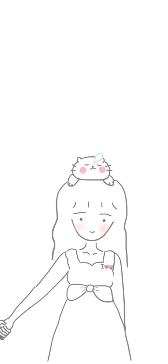 情侣 插画 女孩 简笔