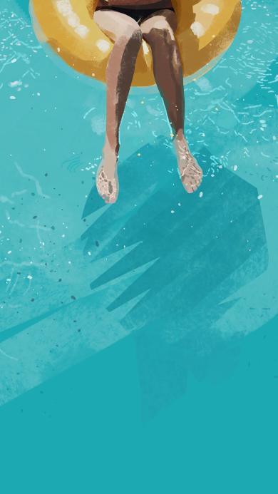 泳池 游泳圈 夏日 解暑
