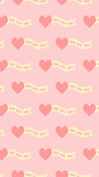 love 爱心 粉色 平铺 爱情