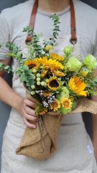 花束 鲜花 黄色 淡雅