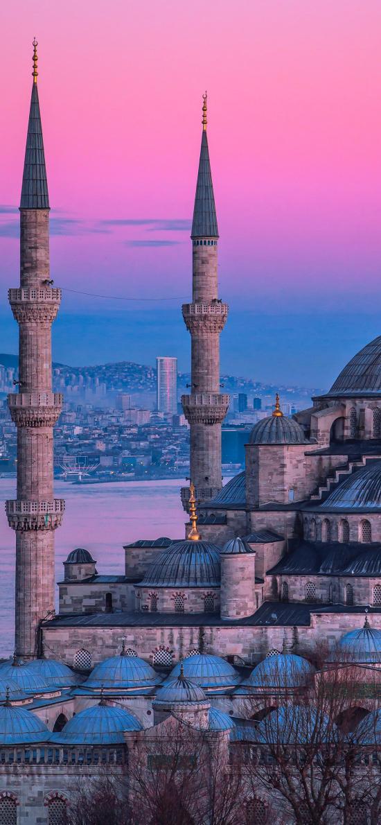 城堡 建筑 傍晚 夕阳 云彩 异域