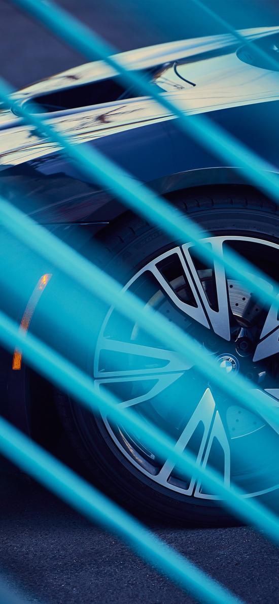 宝马 汽车 豪车 蓝色 光束