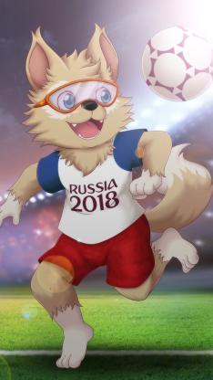 扎比瓦卡 俄罗斯 世界杯 足球 蓝本 西伯利亚平原狼 运动