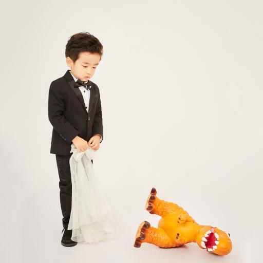 萌娃写真 小男孩 恐龙