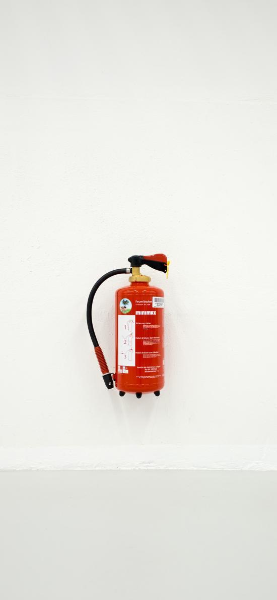 灭火器 墙壁 固定 气罐