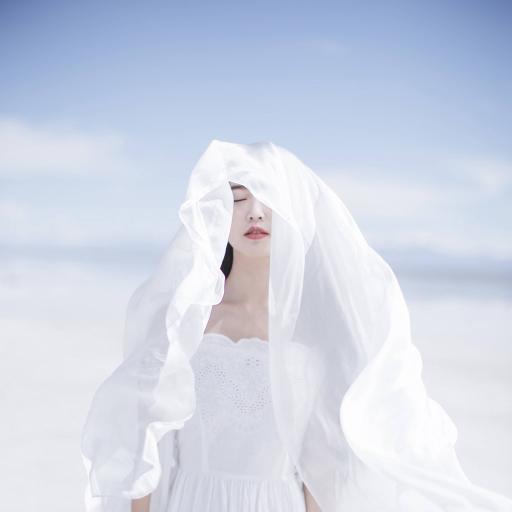 女孩写真 纯洁 唯美 白色系