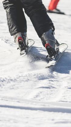 滑雪 滑雪板 寒冷 雪地 运动