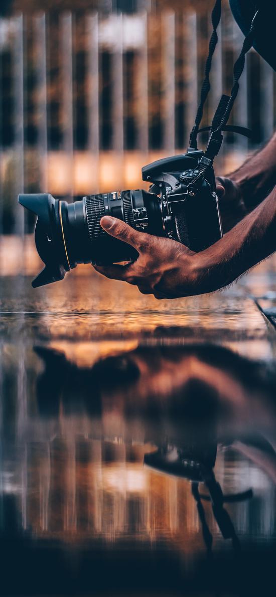摄影 倒影 对称 相机