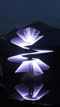 创意 摄影 特效 紫光