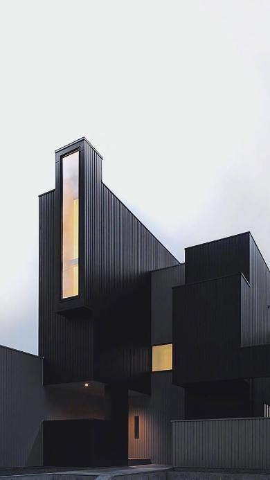 建筑 现代 简约 几何 线条 黑白