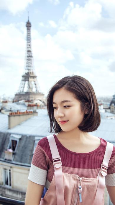 李兰迪 演员 明星 艺人 法国 短发