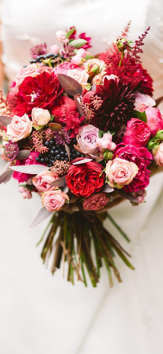 手捧花 鲜花 花束 新娘