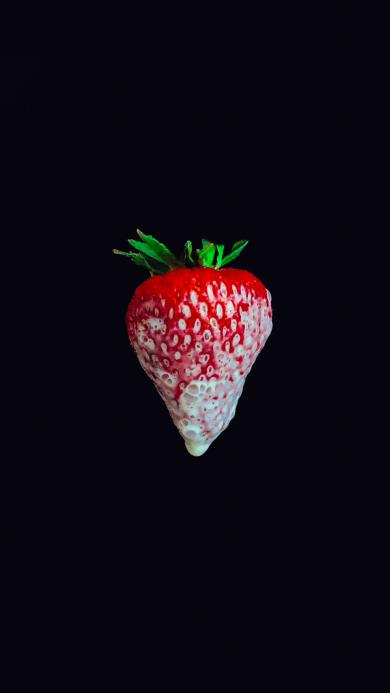 草莓 水果 特写 牛奶