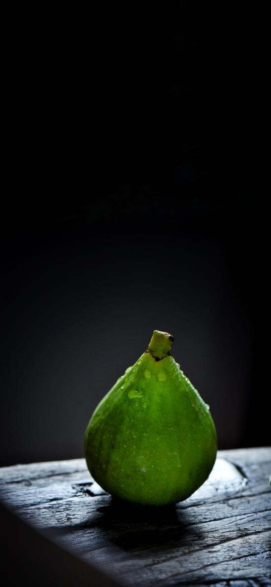 水果 无花果 绿色 水珠