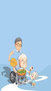 插画 绘画 祖孙 三代 父亲 粽子